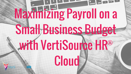Maximizing Payroll on a Small Business Budget with VertiSource HR® Cloud